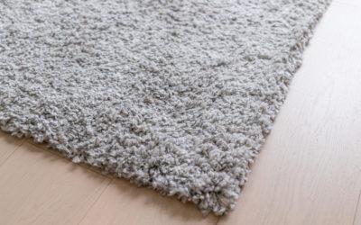 Grey carpet on floor
